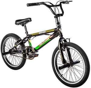 F.lli Schiano Bmx Freestyle Hard Road Vélo Garçon, Noir/Vert, Taille 20″