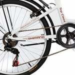 Moma Bikes Vélo de Ville Pliant, TOP CLASS 24″, Aluminium, 6V, Selle Comfort
