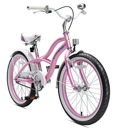 BIKESTAR Vélo Enfant pour Garcons et Filles de 6 Ans ★ Bicyclette Enfant 20 Pouces Cruiser avec Freins ★ Rose
