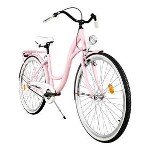 Milord. 2018 Vélo de Confort, Byciclette, Vélo Femme, Vélo de ville, 1 Vitesses, Rose, 26 Pouces