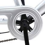 Yonntech 24″ Tricycle Adulte 7 Vitesses Gears vélo Femme/vélo Homme vélo de Ville vélo Hollandais Panier Inclus (Argent)