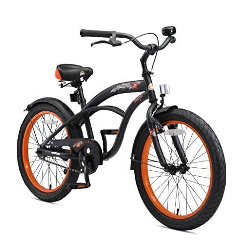 BIKESTAR Vélo Enfant pour Garcons et Filles de 6 Ans ★ Bicyclette Enfant 20 Pouces Cruiser avec Freins ★ Noir