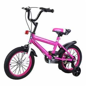 MuGuang 14 Pouces Vélo Enfant Étude d'apprentissage équitation vélo garçons Filles vélo avec stabilisateurs Vélo avec Bell pour Enfant de 3 à 8 Ans (Rouge Ross)