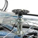 HYLH 20″vélo Pliant Tandem Famille vélo 2 Places Double Enfants Bleu bébé