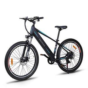 Macwheel Wrangler-600 Vélo de Montagne Electrique, 27,5″ VTT Electrique, 36V/12,5Ah Batterie Lithium-ion Intégré au Cadre, Shimano Dérailleurs à 7 Vitesses,Tektro Double Freins à Disque,Adulte Unisexe