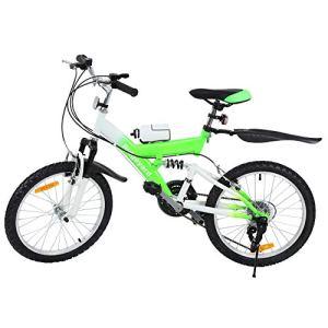 MuGuang 6 Vitesses 20 Pouces Enfant Vélo de Montagne Venez avec Bouilloire 500cc pour Les Enfants de 7 à 12 Ans (Vert)