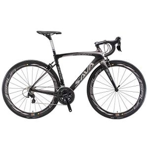 SAVADECK Velo de Course Carbone, HERD9.0 700C Vélo de Route Carbone Homme avec Campagnolo Centaur 22 Vitesses Groupe et Selle fizik Route (50cm, Gris Noir)