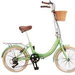Da'FatCat vélo de ville pliant 'Dorothy 1939' auf design, 6V Shimano, pneu 20″ Kenda, panier, adulte