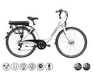 F.lli Schiano E-Moon Vélo électrique Unisex-Adult, Blanc, 28″