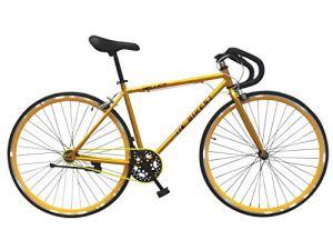 Helliot Bikes Soho 05Vélo Fixie Urbaine, Adultes Unisexe, Or, M-L