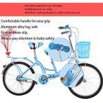 hj Parent-Enfant Vélo, Double V Frein Haute en Acier au Carbone City avec bébé Vélo 22 Pouces Mère et Enfant Vélo Parent-Enfant vélo,Rose