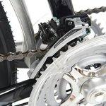 Indigo Turismo 1, unisexe, Tandem Vélo, 21, DE VITESSE de roue 66cm, Noir