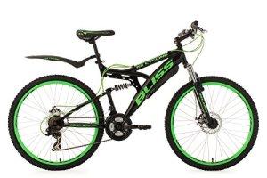 KS Cycling 534M VTT Tout Suspendu Homme, Noir, 26