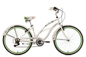 KS Cycling Bellefleur Vélo Beachcruiser 26″ Blanc 40 cm