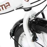 Moma Bikes First Class Blanca Vélo Pliant Adulte Unisexe, Blanc, Unic Size