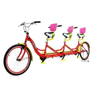 Riscko Tan02 Vélo Tandem pour Trois Personnes