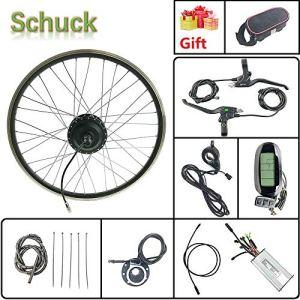 Schuck Kit de Conversion de vélo électrique 28» 48 V 500 W avec écran LCD 6