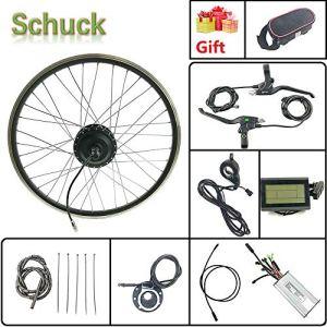 Schuck Kit de Conversion de vélo électrique 700C 48 V 500 W sans balais pour vélo électrique avec écran LCD3