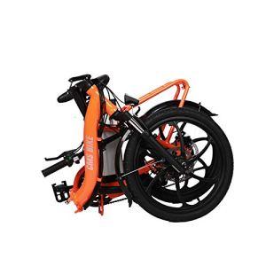 SUNBAOBAO Pliant vélo électrique, 20W 36V10 4Ah Batterie au Lithium vélo 250W, 20 Pouces auxiliaire vélo électrique,Orange