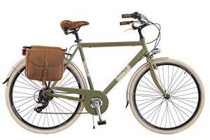 Via Veneto by Canellini City pour Roues de vélo Bike CTB Homme Vintage Retro Via Veneto alluminium (Vert, 54)