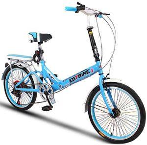 XIUYU Vélos Pliable Ultra léger Portable vélo Pliant Mini Petite Vitesse de Roue Shock Absorption (20 Pouces / 16 Pouces) (Color : 5 , Size : 20in )