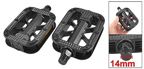 ZXYAN 2pcs 14mm Fil Noir Plate-Forme en Plastique Pédales VTT Vélo De Route