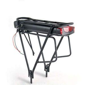 LiRongPing 10s5p arrière Rack vélo électrique Batterie 36V 13Ah 17.5ah 14.5ah électrique Batterie vélo avec Multi-Couches Bagages for 500W 250W Moteur (Charger : 36V14.5Ah, Rack : with)