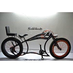 Vélo Cruiser Custom Italie Tandem Custom Noir Orange