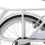 Velo Pliant Folding Sixties en Aluminium de 20 Pouces Shimano 6 V Blanc