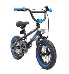 BIKESTAR Vélo Enfant pour Garcons et Filles de 3-4 Ans Bicyclette Enfant 12 Pouces BMX avec Freins Noir & Bleu