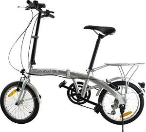 Symex Vélo pliant 16″ 6 vitesses Shimano – Couleur Argenté