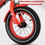 Axdwfd Vélos Enfants Enfants Vélo avec Roues, Formation Amovible 2-13 Ans Garçons Et Les Filles 12/14/16/18 Pouces Vélos De Route (Color : Red, Size : 12in)