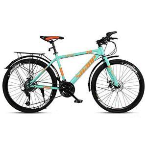 BMX Dirt Vélos de Route VTT Adulte VTT Vélo Route Vélos Vitesse réglable for Les Hommes et Les Femmes 26po Roues Double Disque de Frein (Color : Blue, Size : 21 Speed)