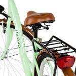 Milord. 2018 Vélo de Confort avec Panier, Byciclette, Vélo Femme, Vélo de ville, 1 Vitesse, Menthe, 28 Pouces