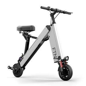 MSM Vélo électrique pour Adulte Déplacement en Ville,Mini Pliage Léger Portatif E-Bike,Endurance 35-40 Km par Charge Argent 350w 36v