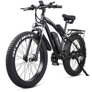shengmilo MX02S 48V 1000W Vélo Electrique Vélo de Montagne Electrique 26 Ppouces Fat Tire e-Bike 21 Vitesses Beach Cruiser Hommes Sports Vélo de Montagne Batterie au Lithium Batterie Freins à Disque