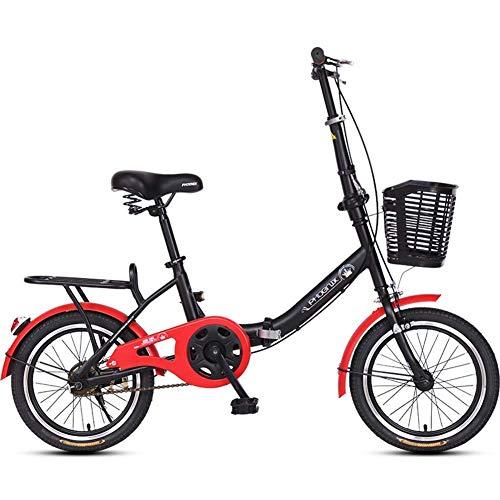 Sports de plein air banlieue ville vélo de route vélo de montagne 16 «vélos pliants adultes hommes femmes poids léger pliant en acier à hauteteneur encarbone cadre unique renforcé vélo de banlieu