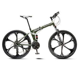 tools BMX Dirt Vélos de Route VTT Vélo de Route Pliant Vélos de VTT Hommes 21 Vitesses 24/26 Pouces Roues for Femmes Adultes (Color : Green, Size : 26in)