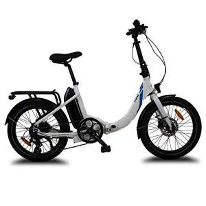 URBANBIKER – vélo électrique Pliant Mini, Batterie Lithium Samsung 36 V 14 Ah (504 Wh) Moteur 250W, Freins hydrauliques Shimano, 20 Pouces, Blanc