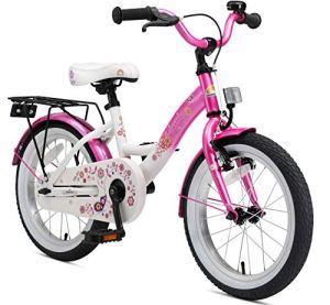 Bikestar Vélo Enfant pour Garcons et Filles DE 4-5 Ans ★ Bicyclette Enfant 16 Pouces Classique avec Freins ★ Rose & Blanc