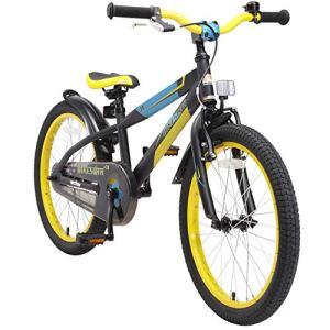 BIKESTAR Vélo Enfant pour Garcons et Filles de 6 Ans | Bicyclette Enfant 20 Pouces Mountainbike avec Freins | Noir & Vert