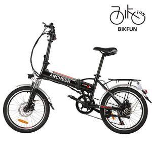 BIKFUN Vélo électrique de Montagne Pliable, 20 pneus Ebike 250 W, Batterie au Lithium 36V 8Ah, Suspension Complète Premium, 21/7 Vitesses