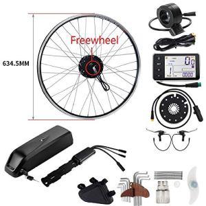 SEASON 36V 350W 28 Pouces Conversion Kit de Vélo Electrique de Roue Arrière Freewheel avec 36V12,5AH Lithiun-ION Batterie pour E-Bike Bicycle