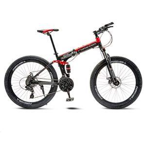 tools BMX Dirt Vélos de Route VTT Pliant Vélo de Route Vélos de VTT 21 Vitesse Hommes Roues for Adultes Femmes (Color : Red, Size : 26in)