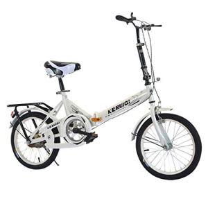 Vélo Pliant De Montagne,ROIPER Vélo de Montagne Pliable Vélo de Course Pliant VTT Vitesses Shifter à Double Freins à Disque Fold Up Travel Cycling 20 Pouces de Pneu,Cadre en Alliage, Pliable