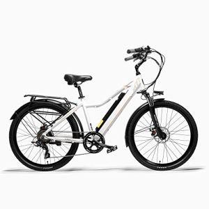 ZTBXQ Sports de Plein air Banlieue Ville vélo de Route vélo Montagne 3.0 26 Pouces vélo électrique 300 W Ville Ressort à Huile Suspension Fourche pédale Assistance vélo Longue Endurance