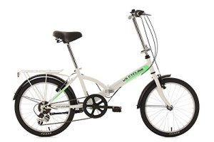 KS Cycling Vélo Pliant Blanc 20″