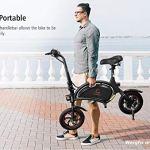 Kugoo B1 Vélo électrique Pliable Jusqu'à 25km/h avec 250W Moteur, Prise en Charge de App, Roue de 12 Pouces, E-Bike pour Adulte et Navetteurs
