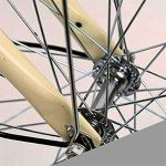 LHY Vélos pour Femmes, 24″Traditionnel Classique pour Dames Vélo Bicyclette héritage pour Filles avec Panier Vélo de Route Urbain rétro Cruiser Bike Cycle de Cadre de Style hollandais, Beige
