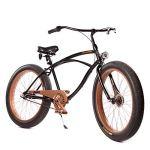 Plumbike Vélo Homme 26″ Velo Adulte Homme Vintage Retro American Beach Cruiser Vélo De Confort Bici Bicyclette Homme Vélo De Ville